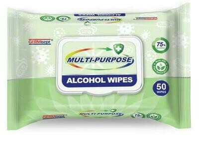 Germisept Multi-Purpose Alcohol Wipes 50ct