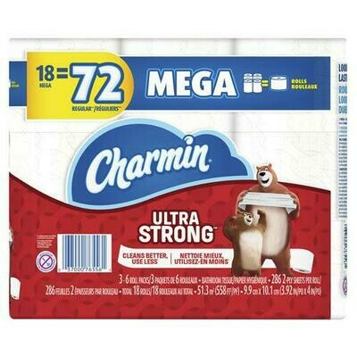 Charmin Ultra Strong 18 ct/286 sheets