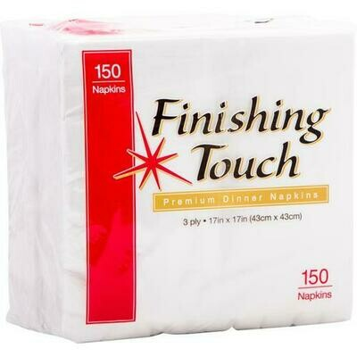 Finishing Touch Dinner Napkin 3-Ply 150 napkins