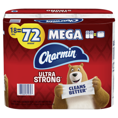Charmin Ultra Strong Tissue Paper 18 ct/264 Sheets