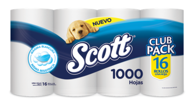 Scott Toilet Paper 16 rolls/1000 sheets