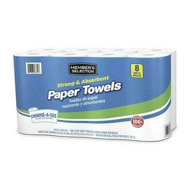 Member's Selection Strong & Absorbent Paper Towels 8 Rolls