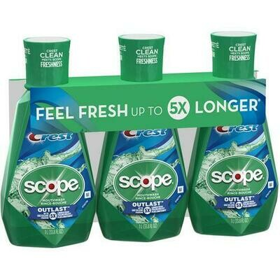 Crest with Scope Outlast Mouthwash 3 pk/ 33.8 oz