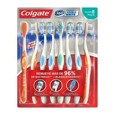 Colgate Toothbrushes Visible White 8 Units