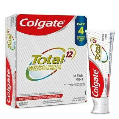 Colgate Total 12 Clean Mint 4 units / 150 ml