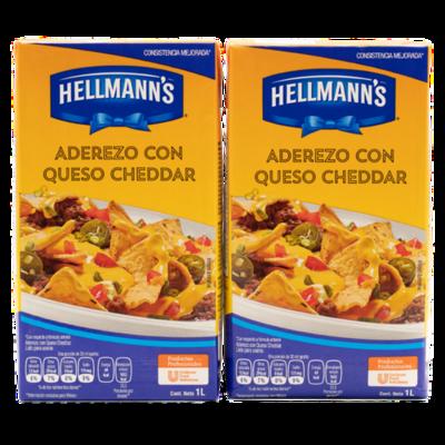 Hellmann's Cheddar Cheese Sauce 2 Units/1 L/33.81 oz