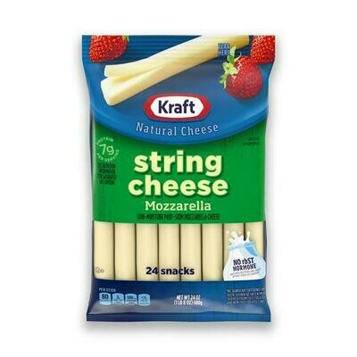 Kraft String Cheese Mozzarella, 24 Units / 28.3 g / 1 oz