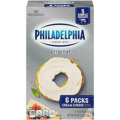 Philadelphia Cream Cheese 6 pk / 227 g / 8 oz