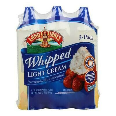Land O' Lakes Whipped Light Cream 3 pk/ 425 g / 15 oz
