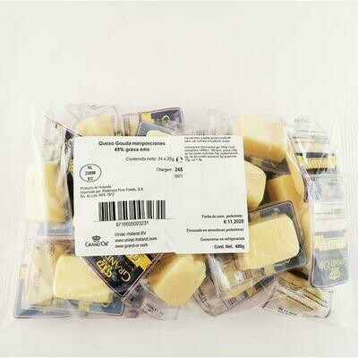 Grand'or Gouda Cheese Portions 24 units / 480 g / 14.1 oz