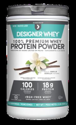 Designer Whey Vanilla Protein Powder 2 lbs/18 g Protein