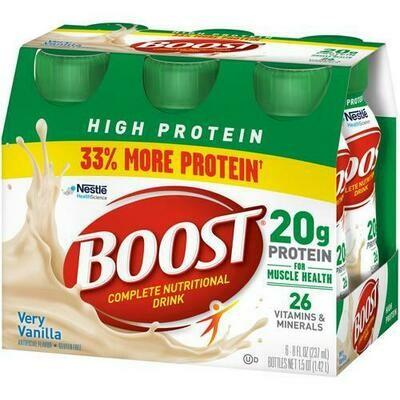 Boost Vainilla Nutricional Drink 6 units/8oz