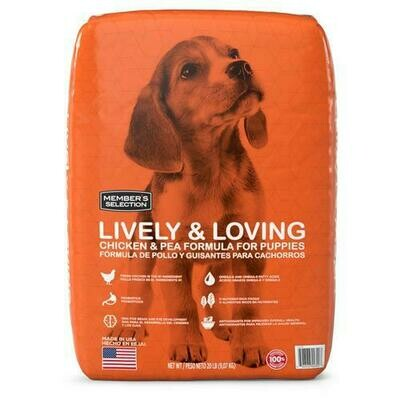 Member's Selection Lively & Loving Chicken & Pea Formula for Puppies 9.07 kg / 20 lb