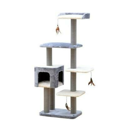 Cat Treehouse With Perches