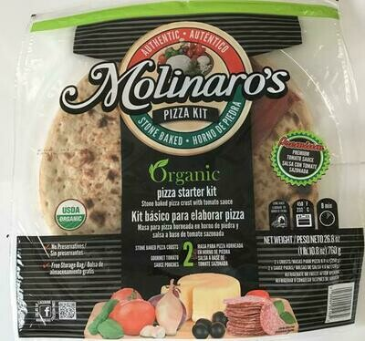 Molinaro's Organic Pizza Kit 2 pk