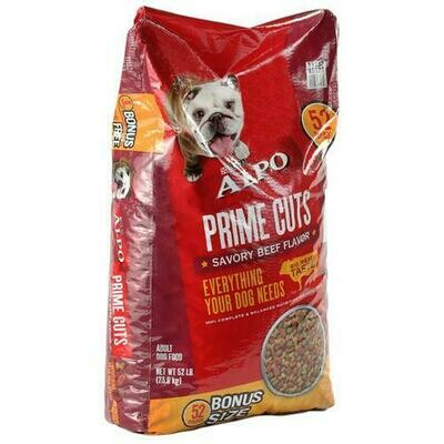 Purina Alpo Prime Cuts Dog Food 52 lb/23.5kg