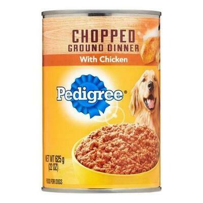 Pedigree Canned Dog Food 12 pk/22 oz