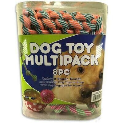 Dog Toy Multi-Pack 8 Pieces