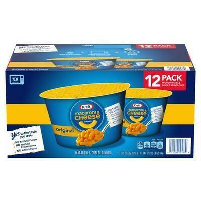 Kraft Easy Mac Cups 12 Units/2.05 oz
