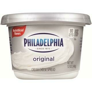 PHILADELPHIA PLAIN ORIGINAL SOFT CREAM CHEESE 12 OZ- 12 oz