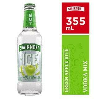 SMIRNOFF ICE GREEN APPLE BOTTLE- 355 ml