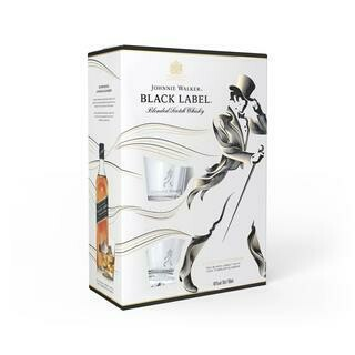 JOHNNIE WALKER BLACK LITRO CON VASOS- 1000 ml