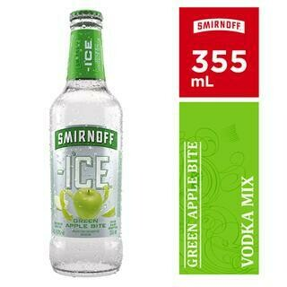 SMIRNOFF ICE GREEN APPLE BOTTLE- 355 ml