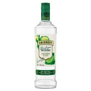 SMIRNOFF ZERO SUGAR INFUSIONS CUCUMBER AND LIME- 750 ml