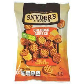 SNYDERS CHEEDAR PRETZEL SANDWICH 1 OZ- 1 oz
