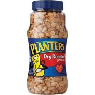 PLANTERS DRY ROASTED PEANUTS - 16OZ- 453 gr