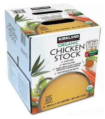 Kirkland Signature Organic Chicken Stock 6 pk/32 oz