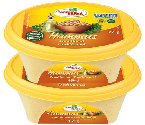 Fontaine Sante Traditional Hummus 2pk/ 454 g /16 oz
