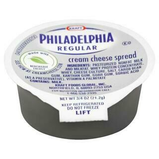 PHILADELPHIA PLAIN ORIGINAL SINGLE SERVE SOFT CREAM 0.75OZ- 0.75 oz