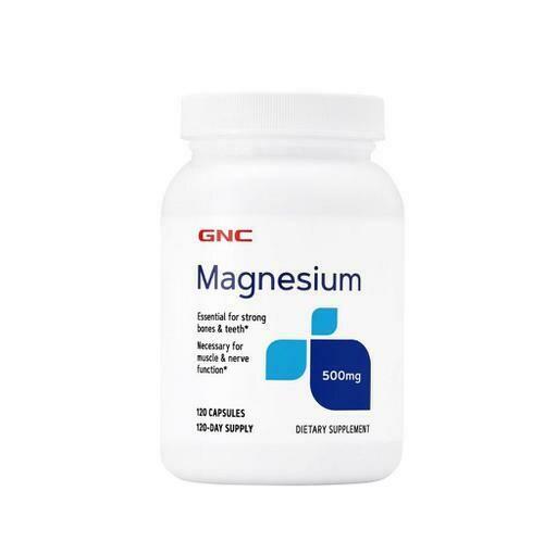 GNC Magnesium 500 mg 120 Tablets