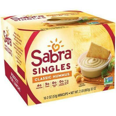 Sabra Classic Hummus 16 ct/ 57 g / 2 oz