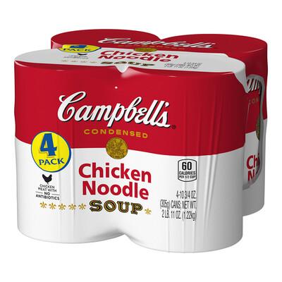 Campbell's Chicken Noodle Soup 4 pk- 10.75 oz/ 305 ml