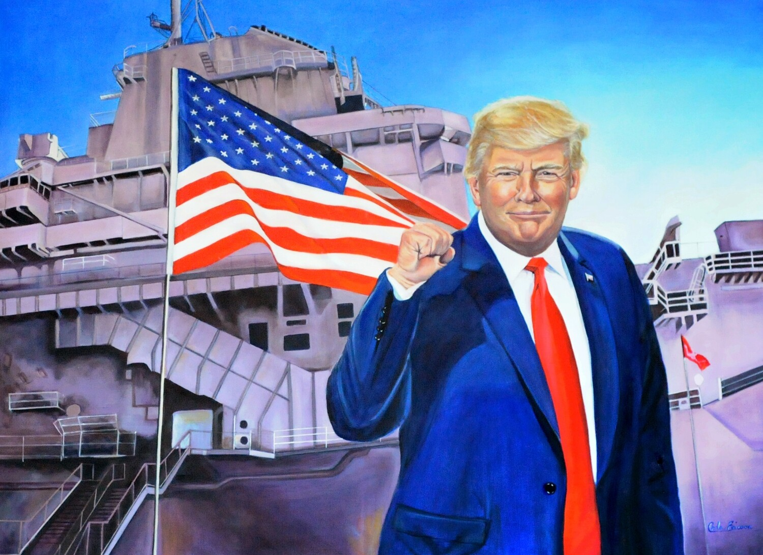 """""""TRUMP STRONG"""" OIL PAINTING"""