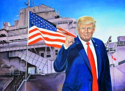 """TRUMP STRONG"" OIL PAINTING"