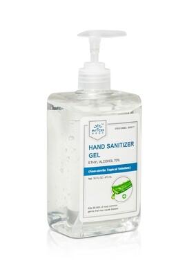 70% Ethyl Alcohol Hand Sanitizer Gel (16oz) w/Aloe