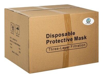 3 Ply Disposable Face Masks (Case of 2000)