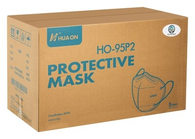 Certified KN95 Face Mask (Case of 1000) **Individually Wrapped**