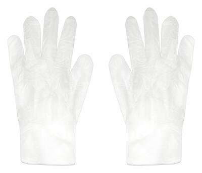 Powder Free Clear Vinyl Gloves (Box of 100)