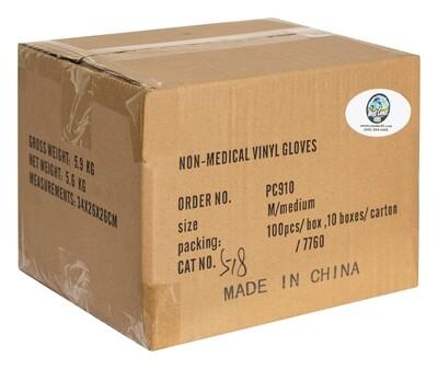 Powder Free Clear Vinyl Gloves (Case of 1000)