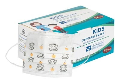 KIDS 3 Ply Disposable Face Masks (Box of 50)