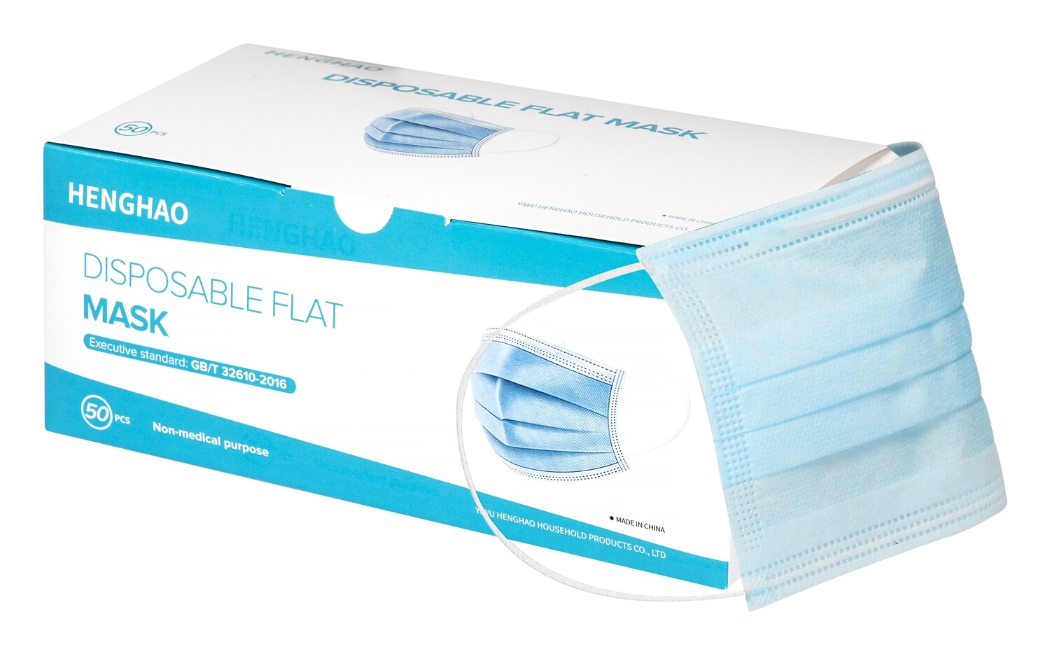 3 Ply Disposable Face Masks (Box of 50)