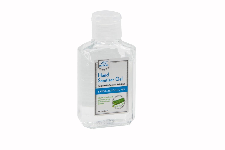 70% Ethyl Alcohol Hand Sanitizer Gel (2oz) w/ Aloe