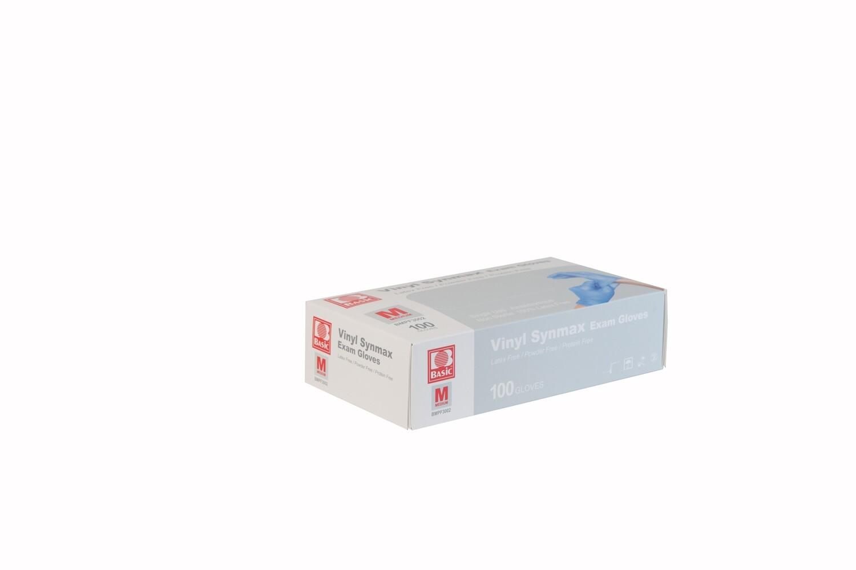 Powder Free Blue Synmax Nitrile/Vinyl Blend Exam Gloves (Box of 100)