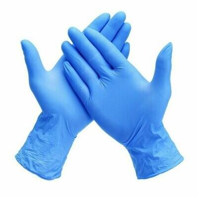 Powder Free Blue Nitrile Exam Gloves (Box of 100)