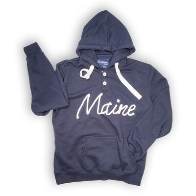 Maine Button Rope Hoodie