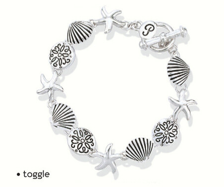 BRACELET - SILVER LINKED SEA SHELLS